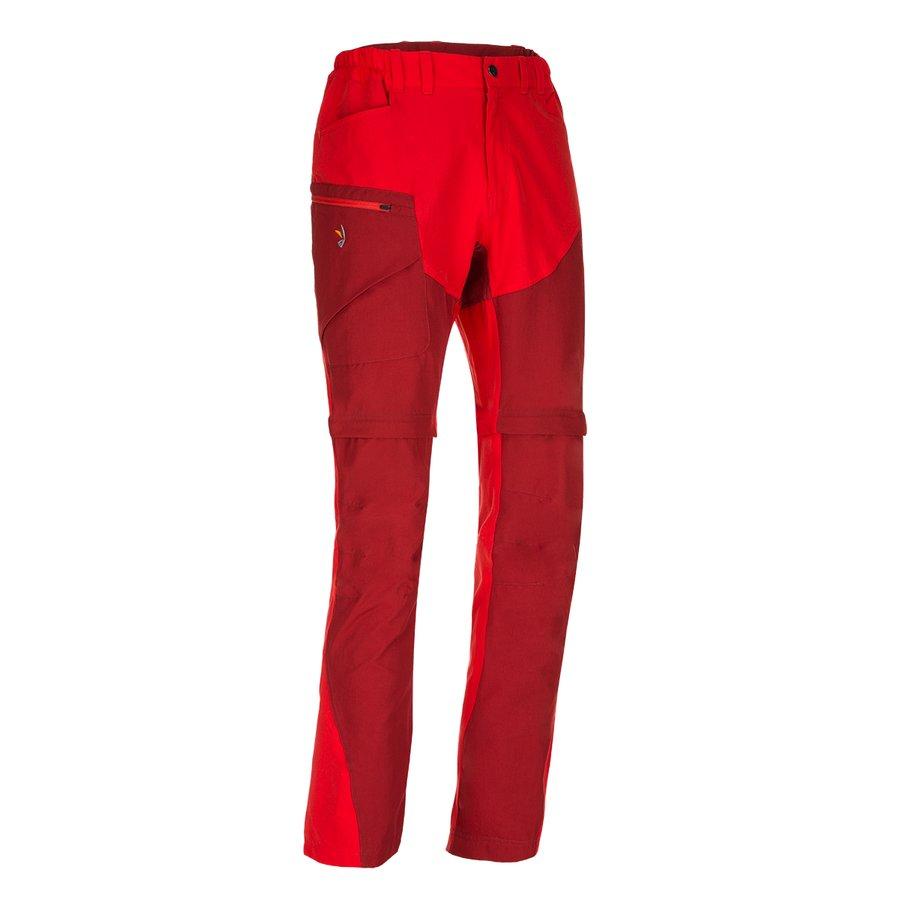 Červené odepínací pánské kalhoty Magnet Neo Zip-Off Pants, Zajo - velikost M