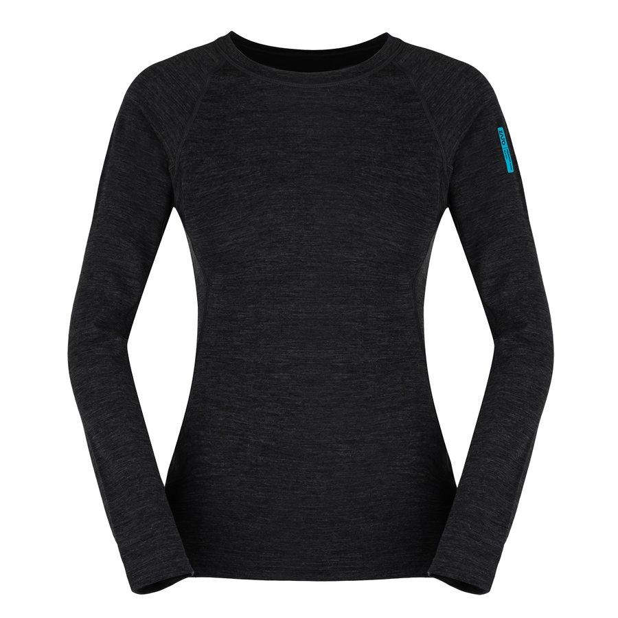 Černé merino dámské tričko Elsa Merino W Tshirt LS, Zajo