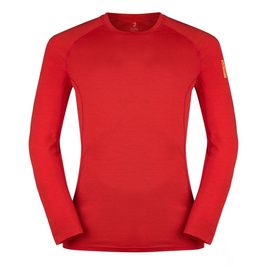 Modré pánské tričko s dlouhým rukávem Bjorn Merino Tshirt LS, Zajo - velikost M
