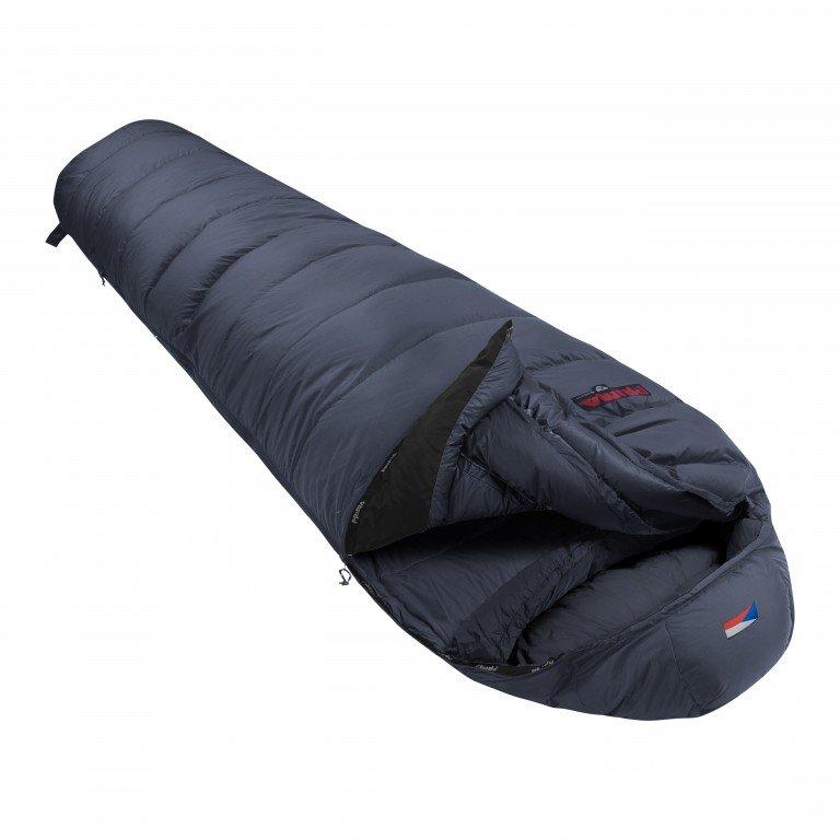 Šedý péřový zimní spacák s pravým zipem POLAR 1000, Prima - délka 200 cm