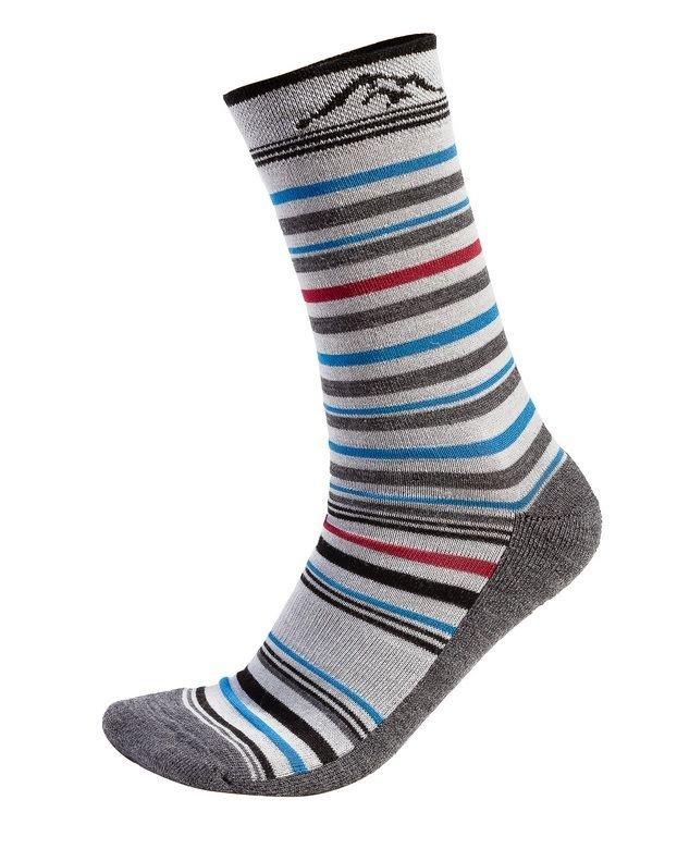 Šedé merino pánské ponožky Tour Merino, Fjord Nansen