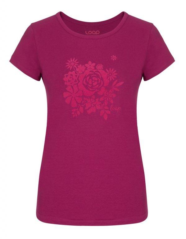 Růžové dámské tričko ANICKA, Loap