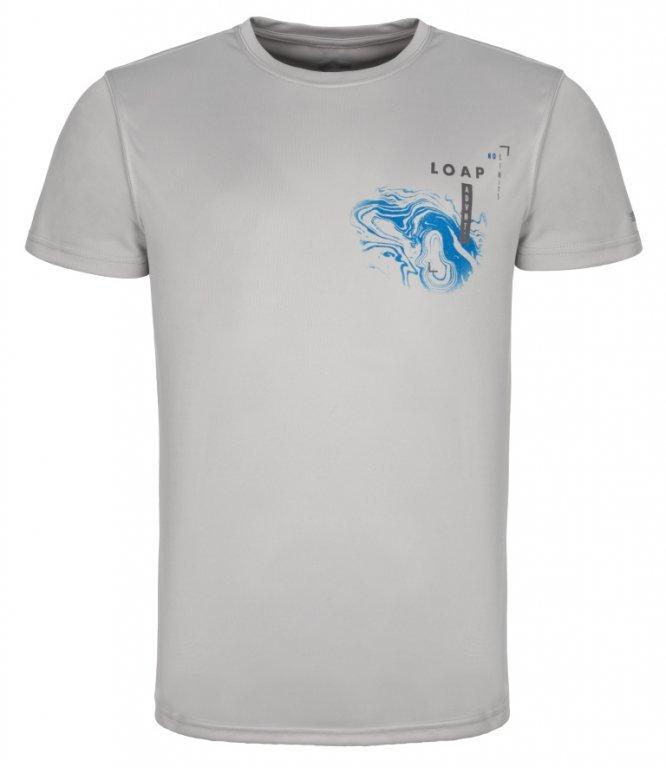 Šedé pánské tričko MALTY, Loap - velikost S