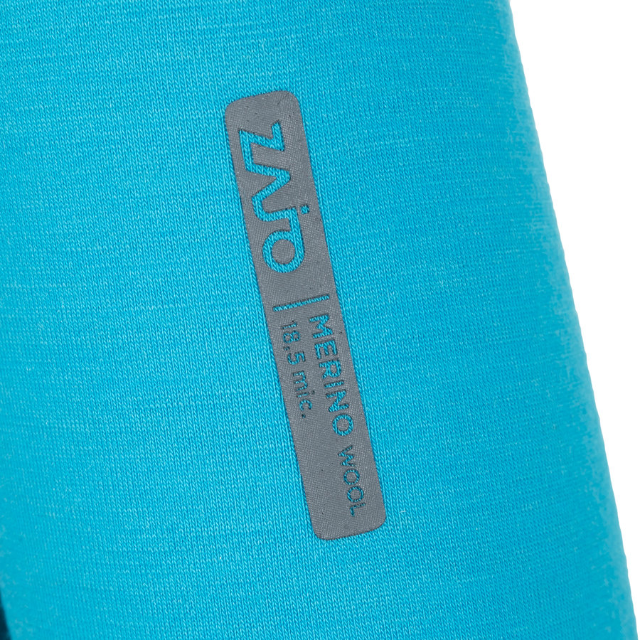 Modré dámské tričko s dlouhým rukávem Elsa Merino W Tshirt LS, Zajo - velikost M