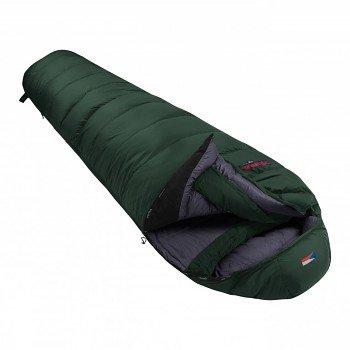 Zelený péřový zimní spacák s pravým zipem POLAR 1200, Prima - délka 220 cm