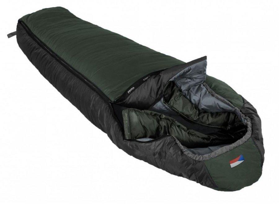 Zelený zimní spacák s levým zipem LHOTSE 200/90, Prima - délka 200 cm