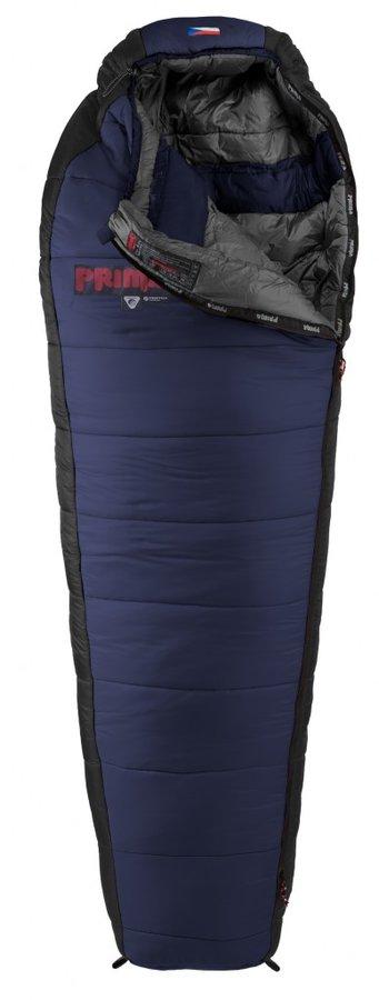 Černý letní spacák s pravým zipem MANASLU 200/80, Prima - délka 200 cm