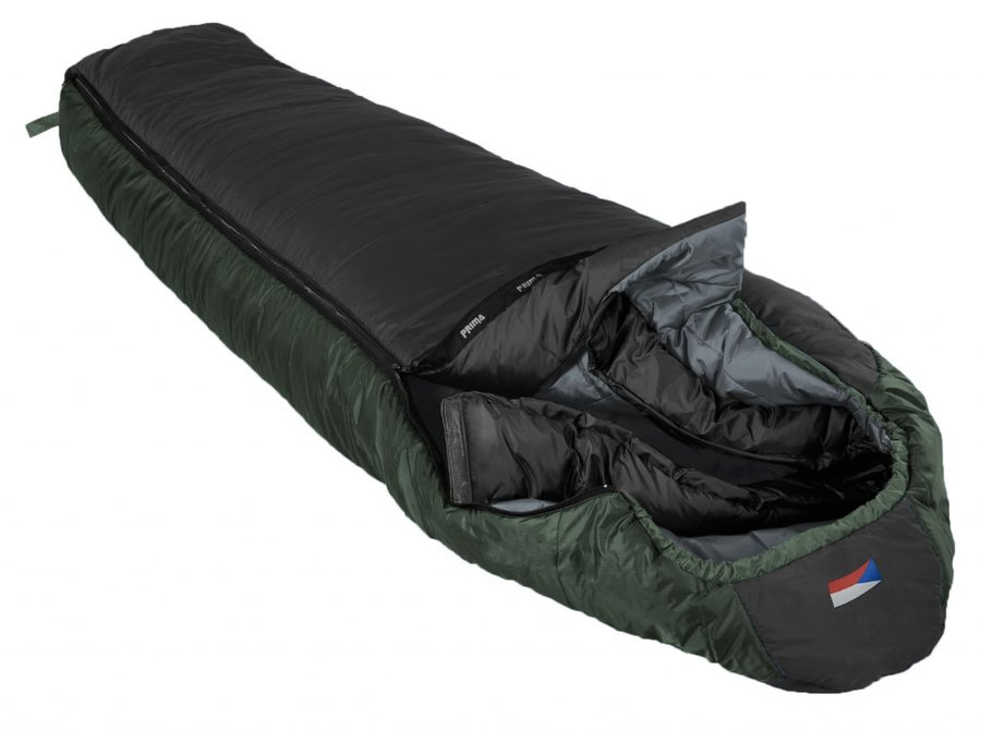 Černý letní spacák s levým zipem ANNAPURNA 200/80, Prima - délka 200 cm