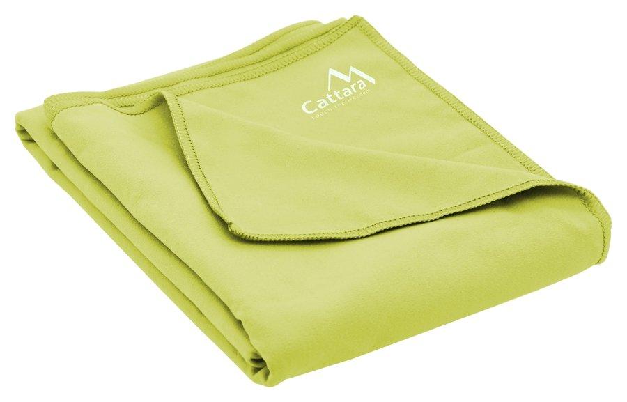 Zelený rychleschnoucí ručník BEACH, Cattara - velikost XL a 80x180 cm