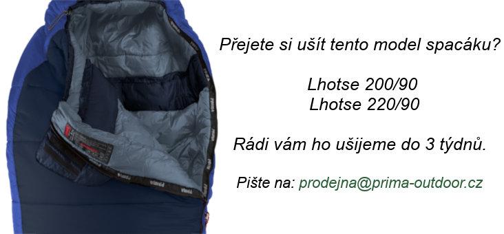 Modrý zimní spacák s pravým zipem LHOTSE 200/80, Prima - délka 200 cm