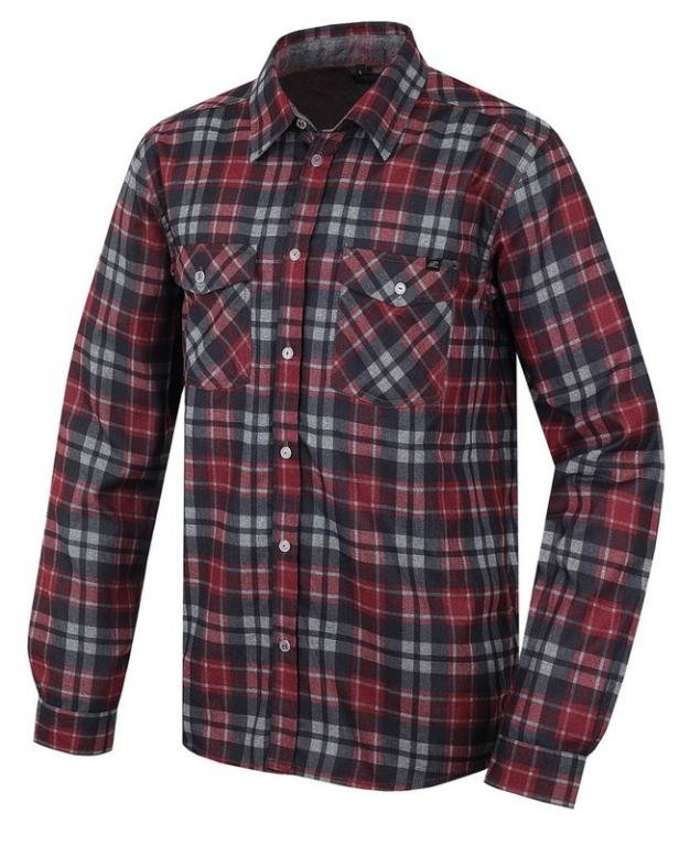 Červená pánská košile s dlouhým rukávem Bendon, Hannah