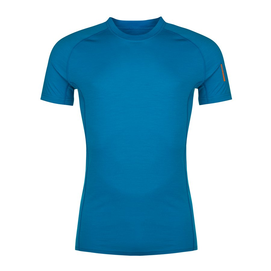 Modré pánské tričko Bjorn Merino Tshirt SS, Zajo - velikost XL