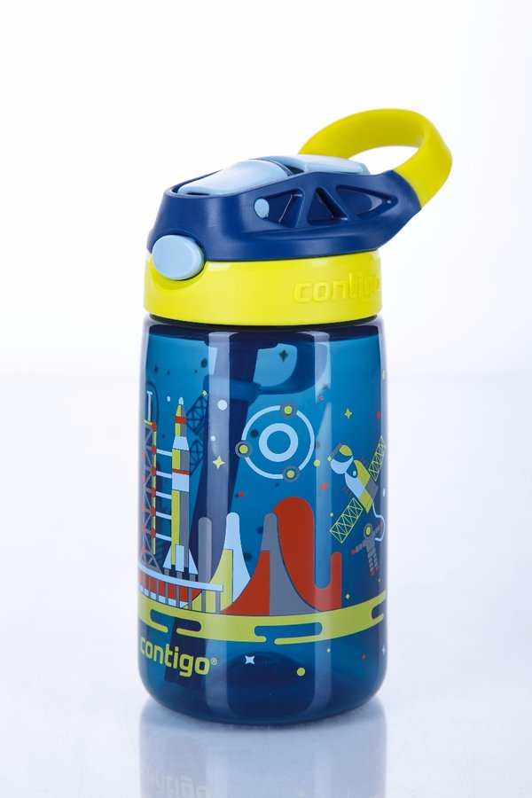 Modrá dětská láhev s brčkem Autospout HL James 420, Contigo - objem 0,4 l
