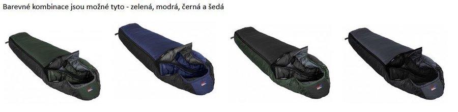 Černý zimní spacák s levým zipem LHOTSE 180/75, Prima - délka 180 cm