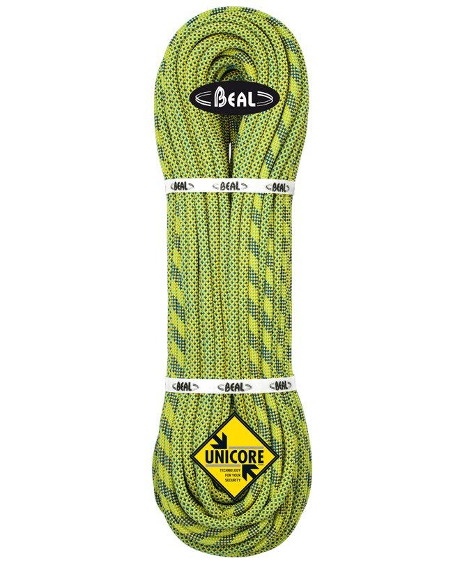 Zelené lano Booster Unicore, Beal - délka 80 m a tloušťka 9,7 mm