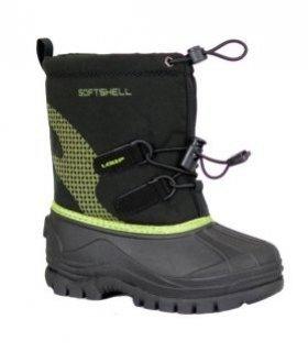 Černo-zelené dětské zimní boty KUTI, Loap - velikost 25 EU