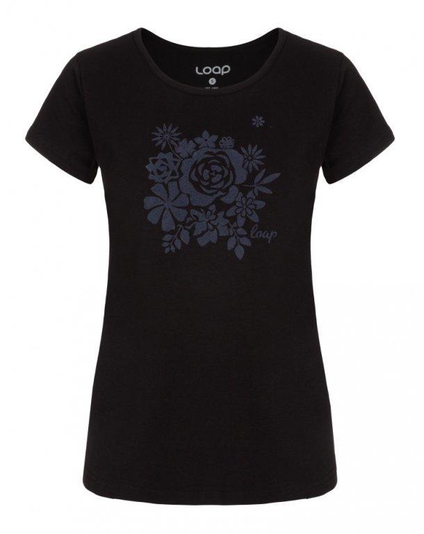 Černé dámské tričko ANICKA, Loap