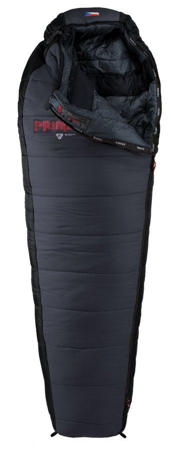 Šedý letní spacák s pravým zipem MANASLU 200/80, Prima - délka 200 cm