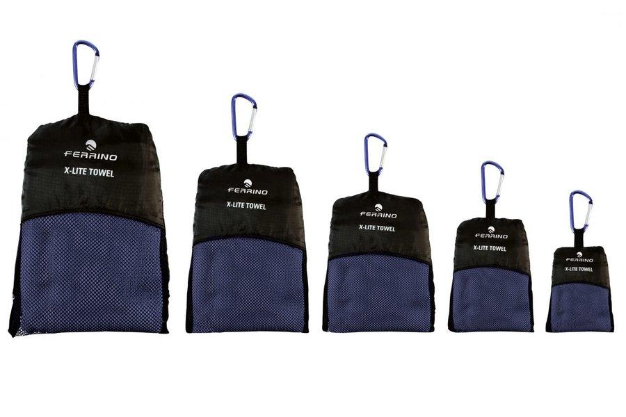 Modrý rychleschnoucí ručník X-LITE TOWEL, Ferrino