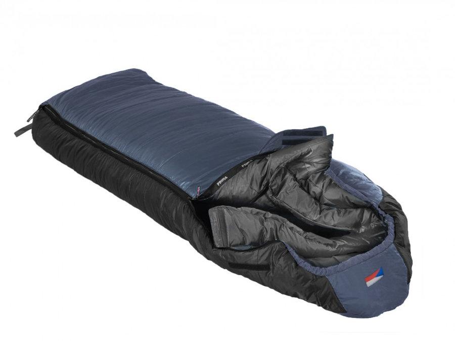Modrý letní spacák s levým zipem MANASLU 230 Comfortable, Prima - délka 230 cm