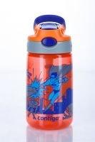 Červená dětská láhev s brčkem Autospout HL James 420, Contigo - objem 0,4 l