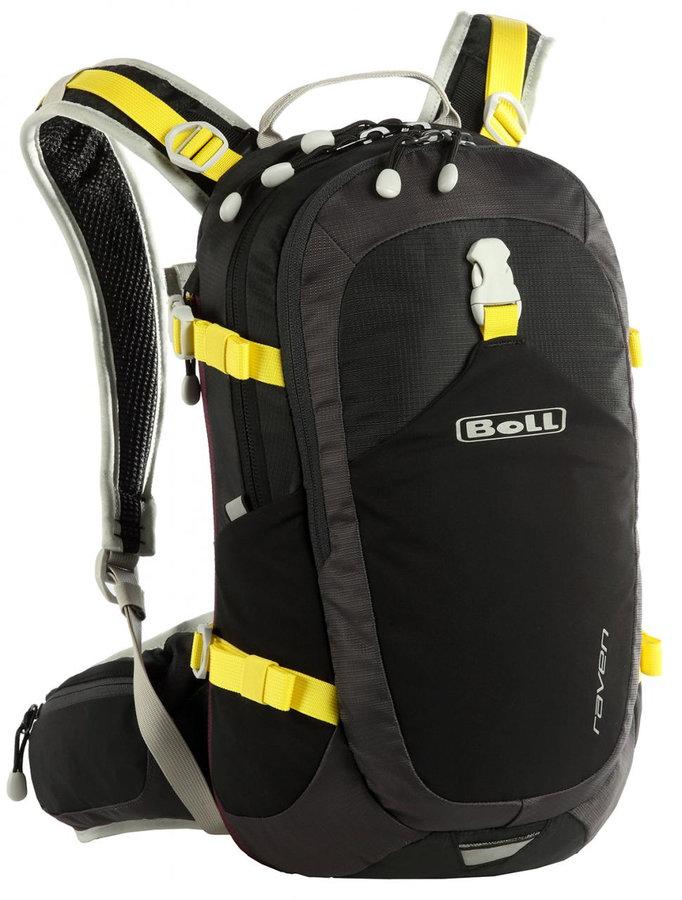 Černý turistický batoh RAVEN 15-18, Boll - objem 18 l