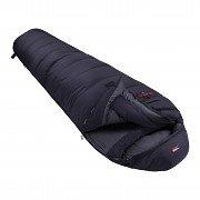 Černý péřový zimní spacák s pravým zipem POLAR 1200, Prima - délka 220 cm