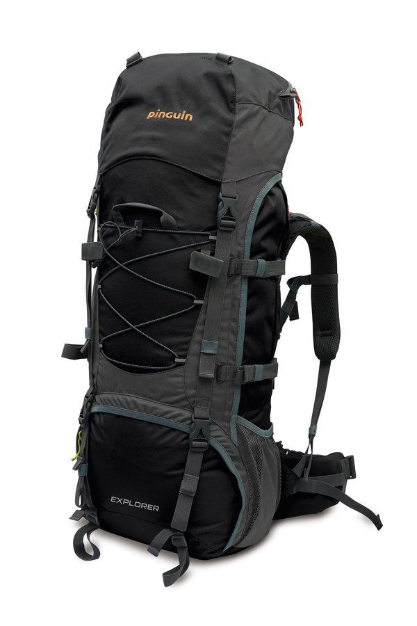 Černý turistický batoh Explorer 75, Pinguin - objem 75 l
