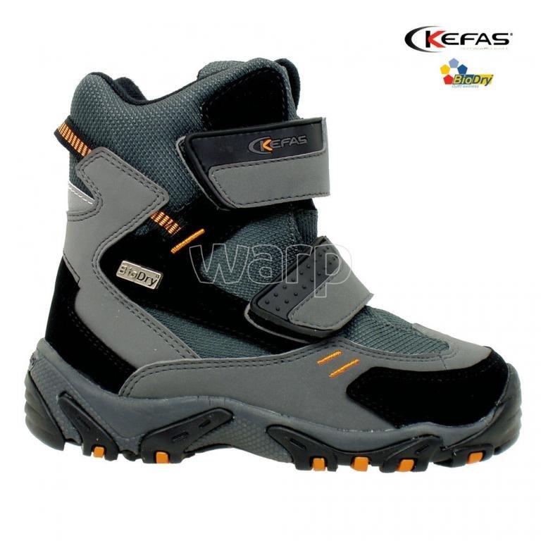 Šedé dětské zimní boty Musher, Kefas
