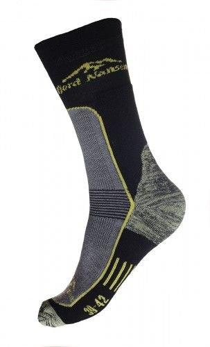 Černé pánské ponožky Hike Kevlar, Fjord Nansen