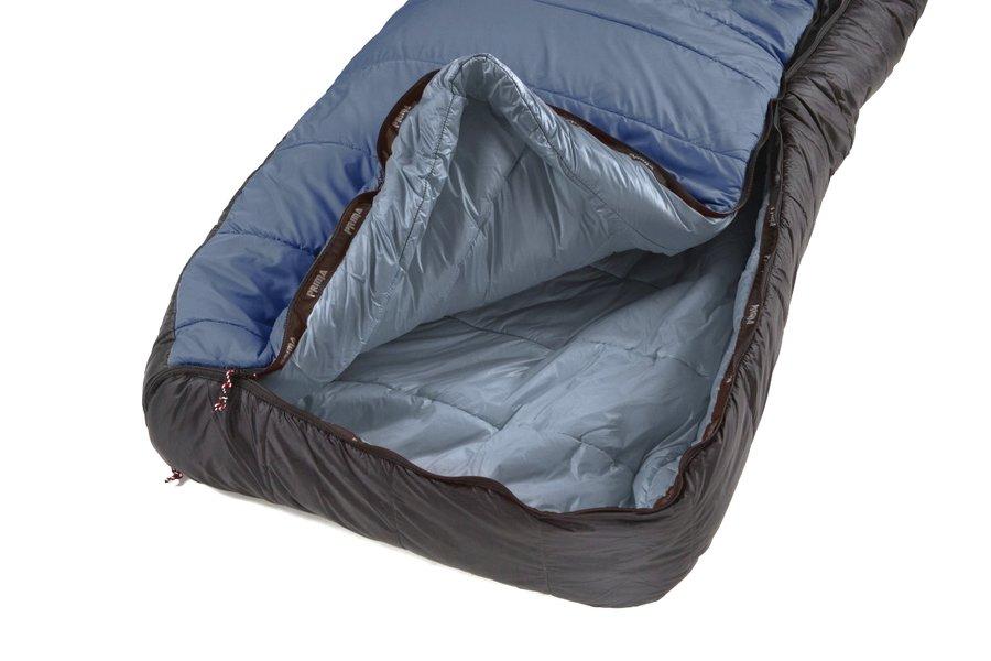 Černý třísezónní spacák s levým zipem MAKALU 230 Comfortable, Prima - délka 230 cm