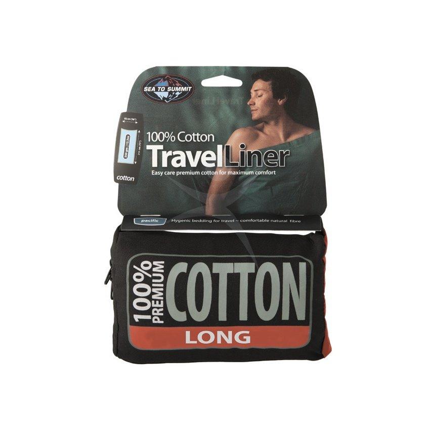 Vložka do spacáku Premium Cotton Travel Liner - Long, Sea to Summit - délka 210 cm